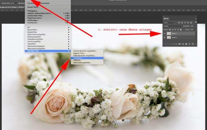 Fotos schärfen mit Photoshop Hochpass