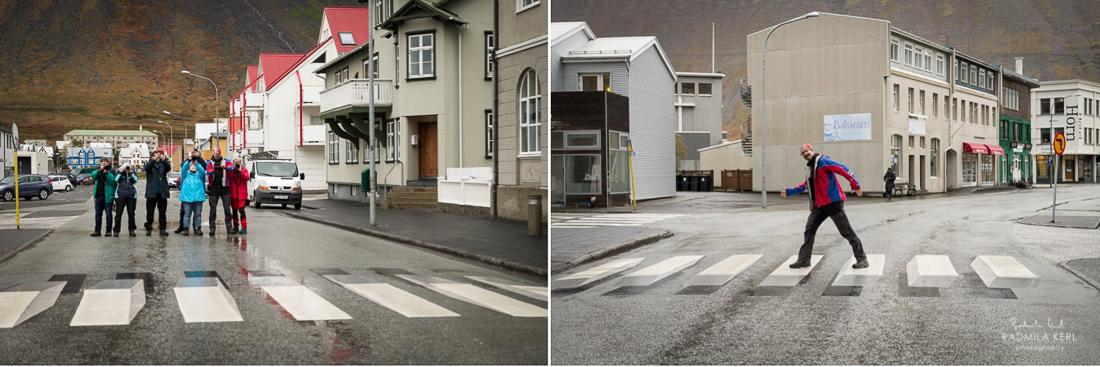 Ísafjörður Iceland, 3d pedestrian crossing
